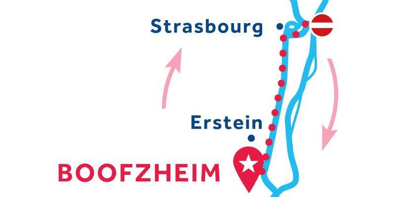 Boofzheim return via Strasbourg