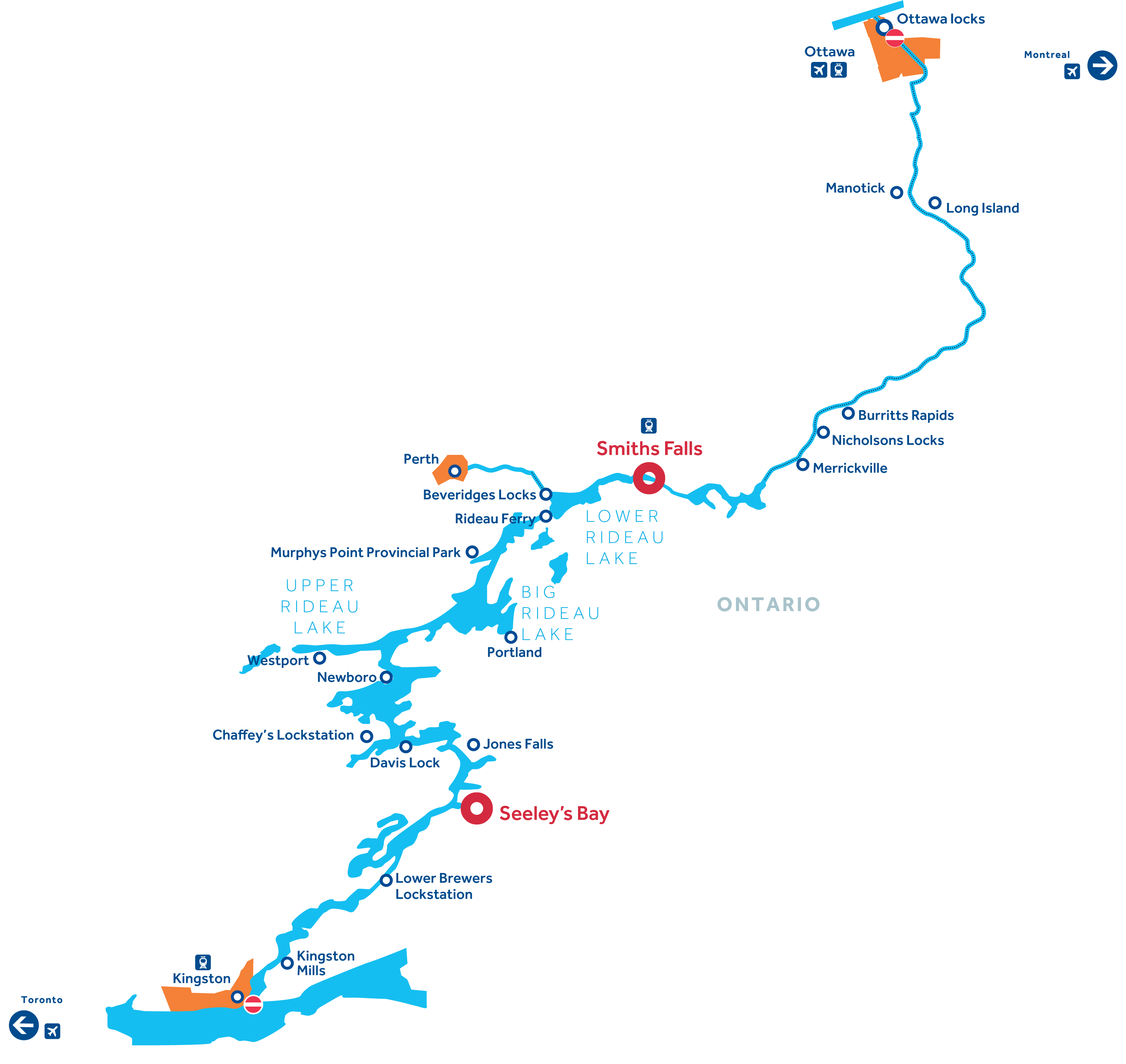 Rideau Canal Region Map