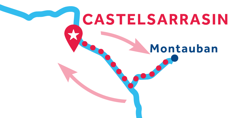 Castelsarrasin RETURN via Montauban
