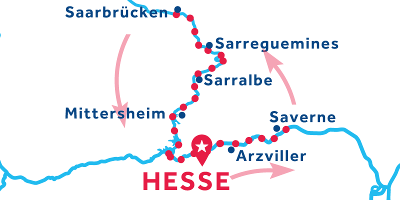 Hesse RETURN via Saverne & Saarbrücken