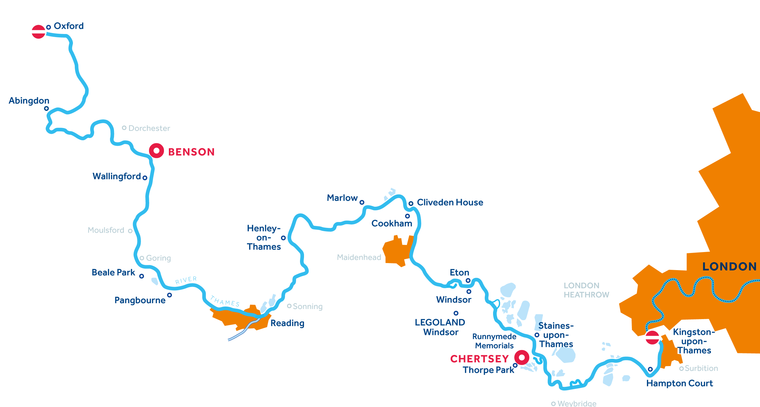 Thames Region map