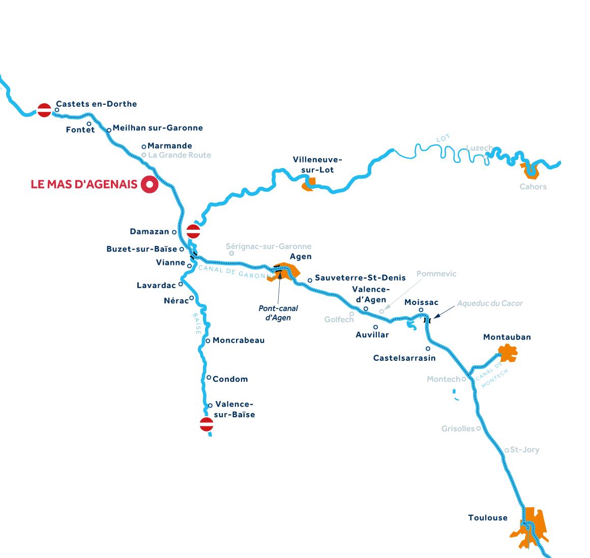 Aquitaine region map