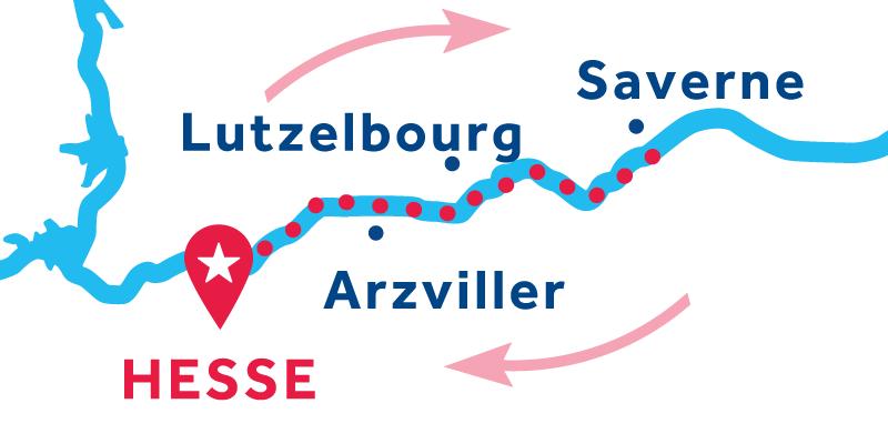 Hesse return via Saverne