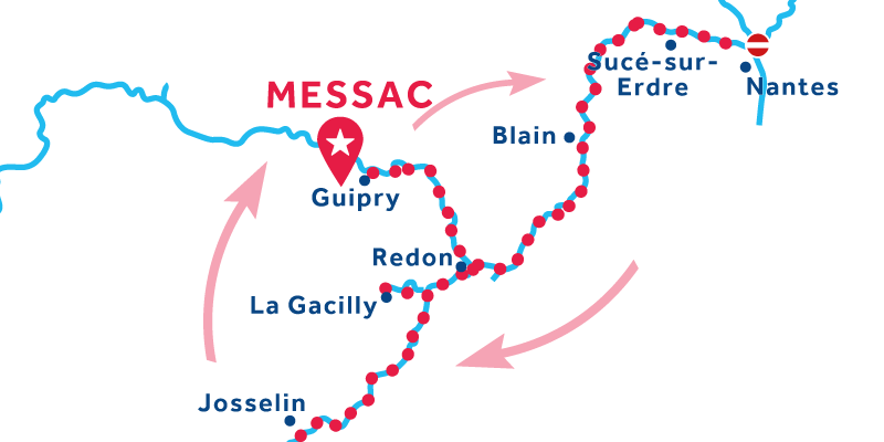 Messac RETURN via Josselin & Blain