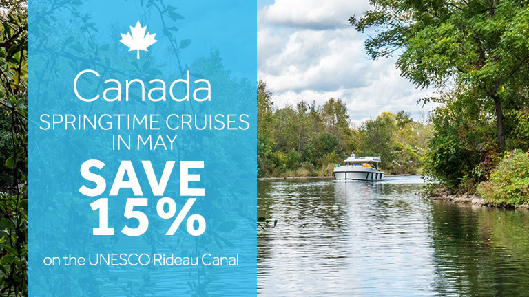 Save up to 15% on Rideau Canal Houseboat Rentals in Ontario