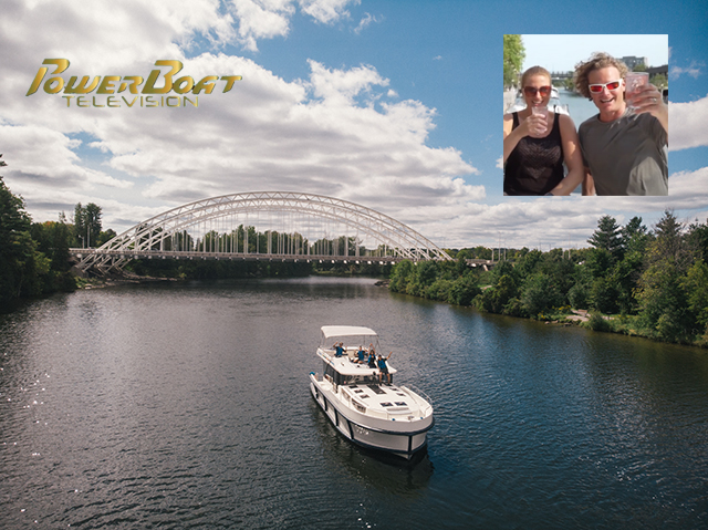 Powerboat TV Travels North to Ottawa on the Rideau Canal on a Le Boat