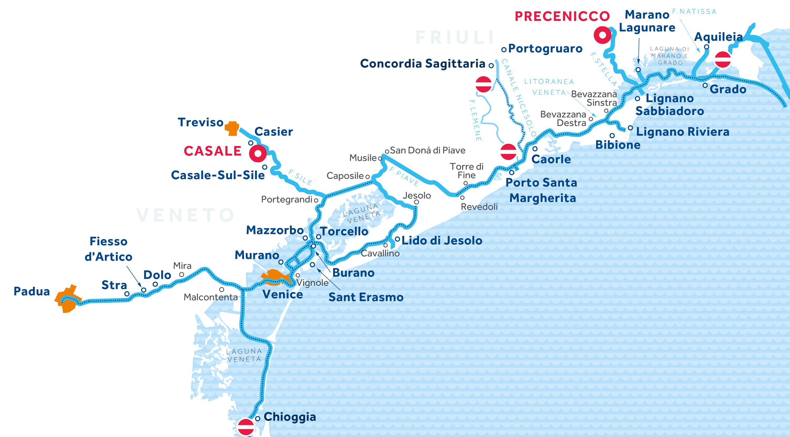 Venice and Friuli Region map