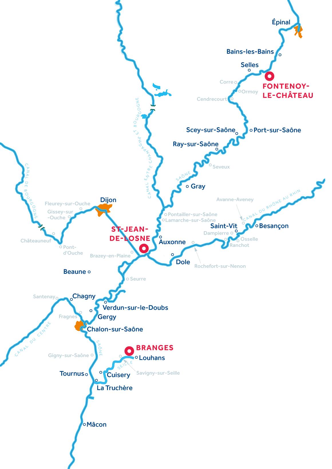 Carte: Bourgogne Franche-Comté