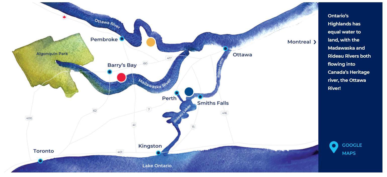 Madawaska, Rideau and Ottawa River Boating Vacations