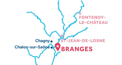 Carte de situation de la base de Branges