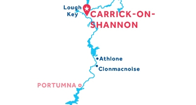 Carte de situation de la base de Carrick-on-Shannon