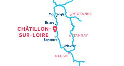Carte de situation de notre base de Châtillon-sur-Loire