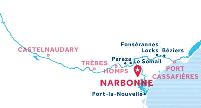 Narbonne base location map