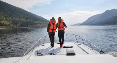 Cruising on the Caledonian canal