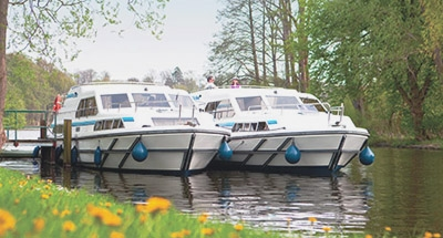 Two moored Le Boats