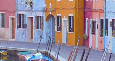 Maisons colorées à Venise
