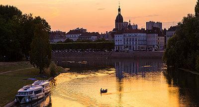 Coucher de soleil - le Vision à Chalon-sur-Saône