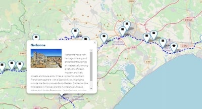 Interactive maps with key points of interest