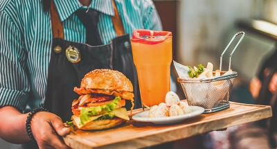 Burger and drink