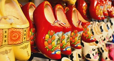 Dutch clogs in a shop