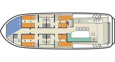 Plan du pont supérieur de l'Horizon 5