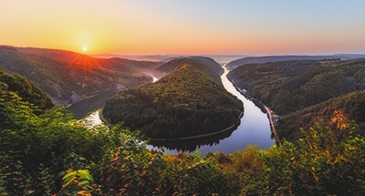 Saar River in Germany
