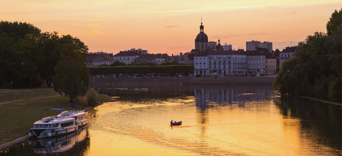 Chalon-sur-Saône at sunset