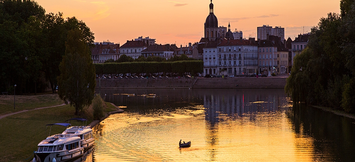 Sunset in Chalon-sur-Saône