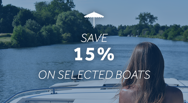 Save up to 15% on these Le Boat cruisers