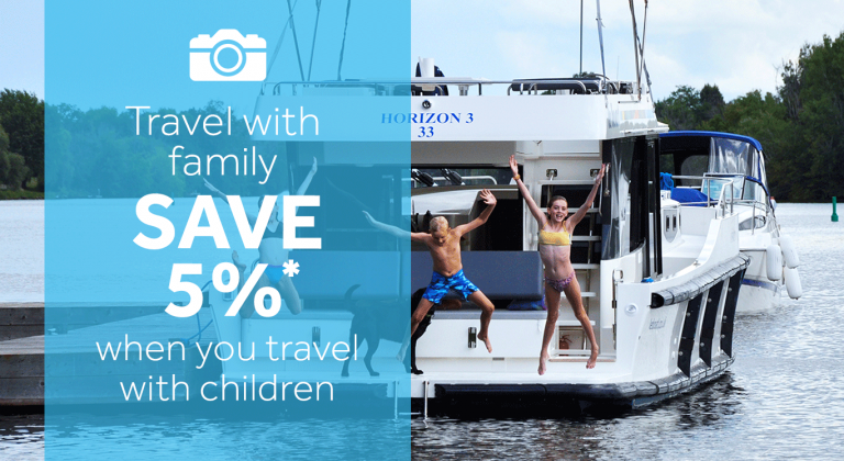 Save an Extra 5% on a river cruise when traveling with children
