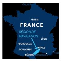 Zone de navigation en Camargue en France