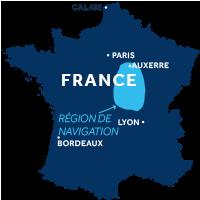 Carte de la Vallée de la Loire & Nivernais en France
