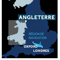Zone de navigation sur la Tamise en Angleterre