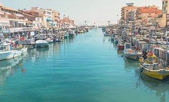 Canal à Palavas-les-Flots