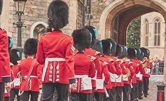 Royal guards marching in Windsor